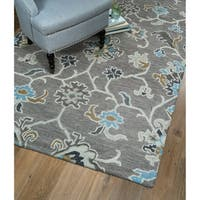 Christopher Ziegler Grey Hand-Tufted Rug - 5' x 7'9""