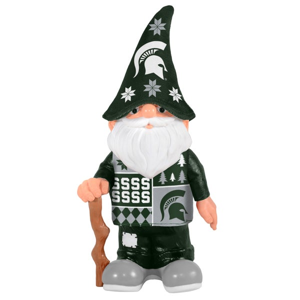 Forever Collectibles Michigan State Spartans Real Ugly Sweater Gnome