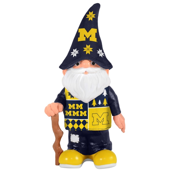 Forever Collectibles Michigan Wolverines Real Ugly Sweater Gnome