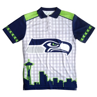 Forever Collectibles Seattle Seahawks NFL Polyester Thematic Polo Shirt (2 options available)