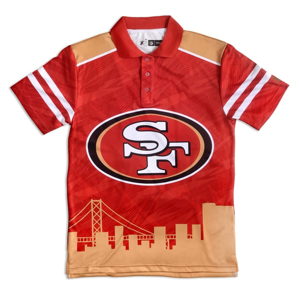 Forever Collectibles San Francisco 49ers NFL Polyester Thematic Polo Shirt