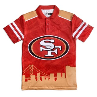 Forever Collectibles San Francisco 49ers NFL Polyester Thematic Polo Shirt (3 options available)