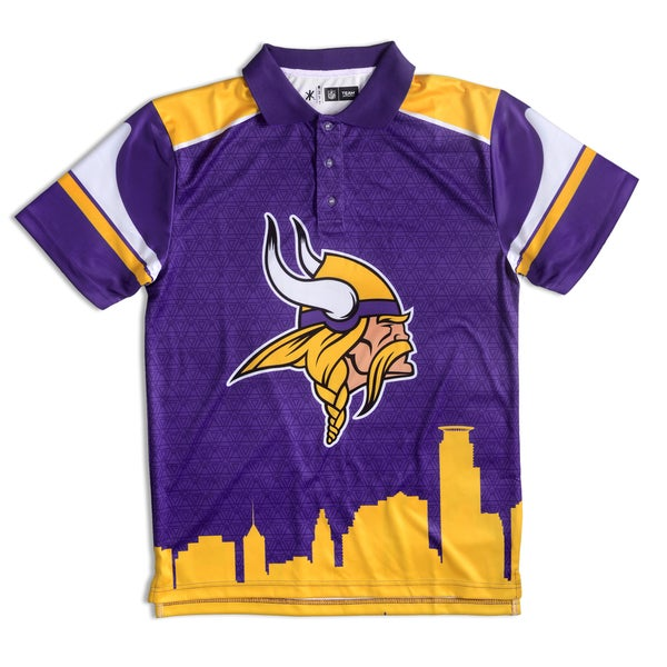 c52e13a20 Shop Forever Collectibles Minnesota Vikings NFL Polyester Thematic Polo  Shirt - Free Shipping On Orders Over  45 - Overstock - 10575785