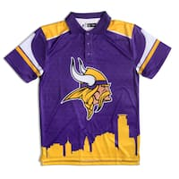 Forever Collectibles Minnesota Vikings NFL Polyester Thematic Polo Shirt