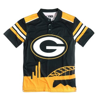 Forever Collectibles Green Bay Packers NFL Polyester Thematic Polo Shirt