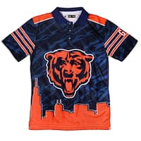 Forever Collectibles Chicago Bears NFL Polyester Thematic Polo Shirt