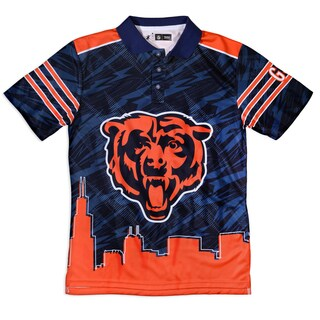Forever Collectibles Chicago Bears NFL Polyester Thematic Polo Shirt (3 options available)