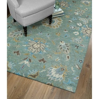 Christopher Kashan Mint Hand-Tufted Rug (9'0 x 12'0)