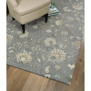 Christopher Kashan Grey Hand-Tufted Rug (4'0 x 6'0) - 4' x 6'