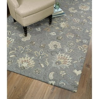 Christopher Kashan Grey Hand-Tufted Rug (2'6 x 8'0)