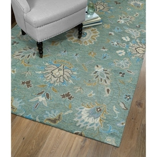 Christopher Kashan Mint Hand-Tufted Rug (5'0 x 7'9)