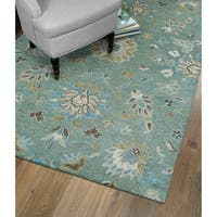 "Christopher Kashan Mint Hand-Tufted Rug (5' x 7'9"")"