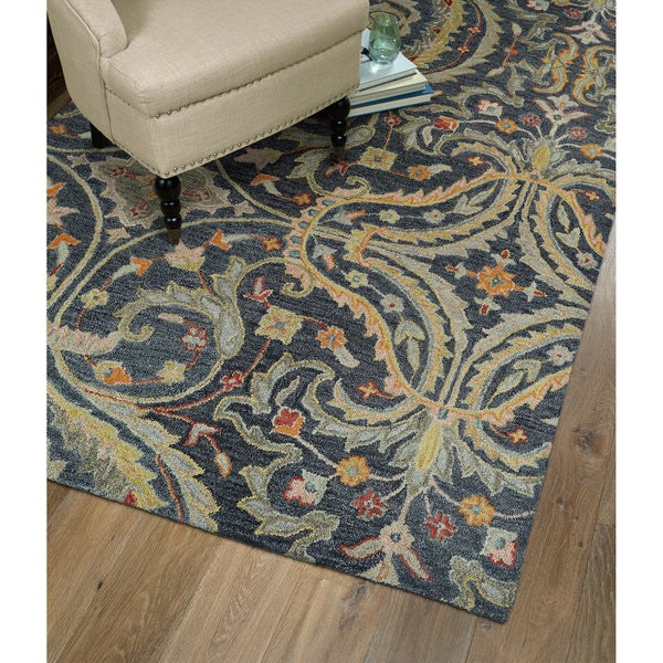 Christopher Pewter Classique Hand Tufted Rug 2 6 X 8 0