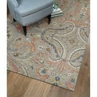 "Christopher Taupe Classique Hand-Tufted Rug - 2'6"" x 8'"