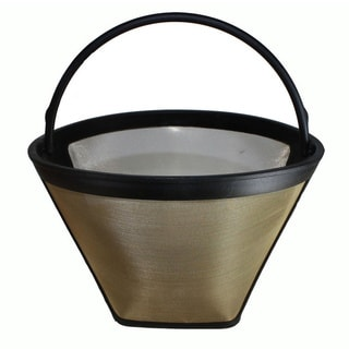 Washable Gold Tone 4 Cone Coffee Filter Part GTF