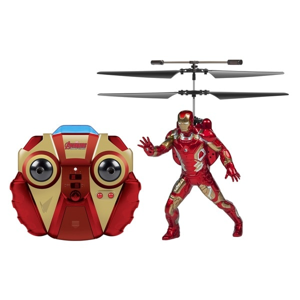 Marvel Comics Officially Licensed Avengers: Age Of Ultron Iron Man 2-channel IR RC Helicopter with Sounds