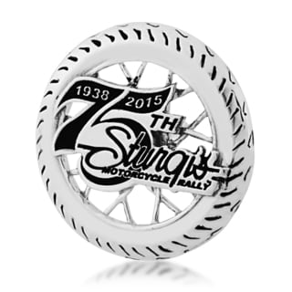 Sterling Silver 75th Sturgis Rally Pin