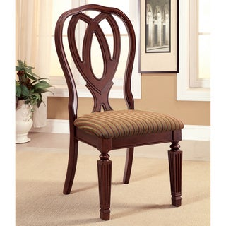 Furniture of America Woodrow Traditional Cherry Side Chair (Set of 2)