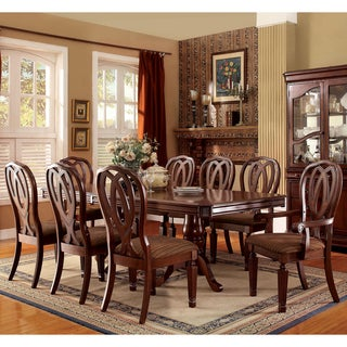 Furniture of America Woodrow Traditional 9-piece Cherry Dining Set