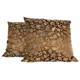 Chopin Bronze Throw Pillow (Set of 2)