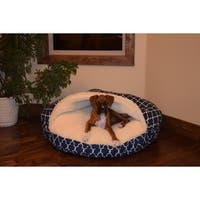Snoozer Garden Gate Blue/White Cozy Cave Pet Bed
