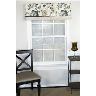 Jacobean Blue Straight Valance