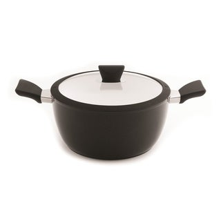 Eclipse Black and White 10-inch Covered Stockpot