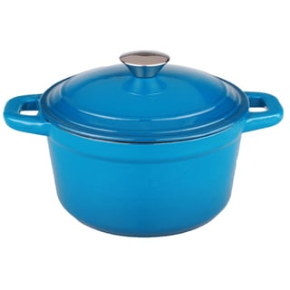 Neo 5qt Cast Iron Round Covered Casserole Blue
