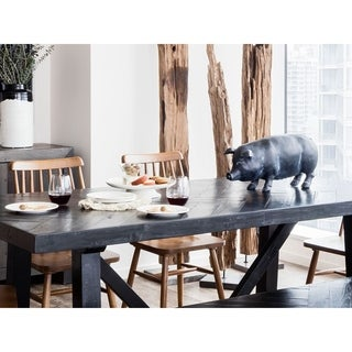 Aurelle Home Large Farm Pig Oink Sculpture