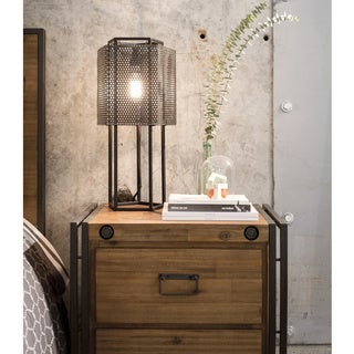 Aurelle Home Katie Industrial Nightstand
