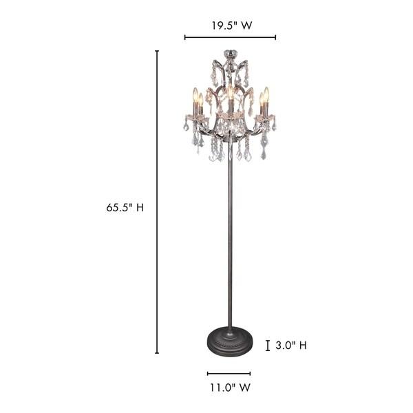Aurelle Home Classic Crystal Floor Lamp