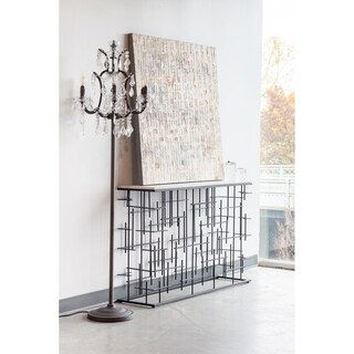 Aurelle Home Dory Classic Crystal Floor Lamp