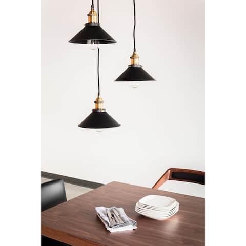 Aurelle Home Iron & Aluminum Contemporary Pendent Lamp - N/A