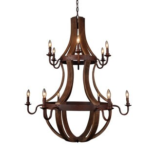 Aurelle Home Barrel Double Layer French Chandelier