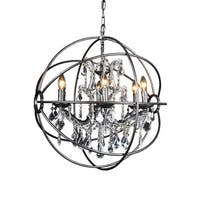 Aurelle Home Darra Large Crystal Pendant Light