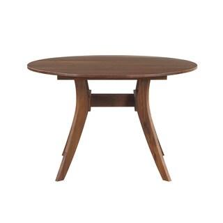 Aurelle Home Mid-century Round Walnut Dining Table