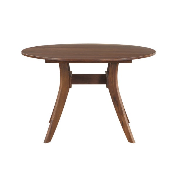 Aurelle Home Mid Century Round Walnut Kitchen Table