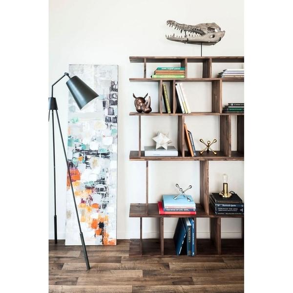 Aurelle Home Heather Dark Brass Tripod Floor Lamp