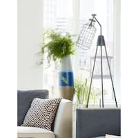 Aurelle Home Izzy Tripod Brass Floor Lamp