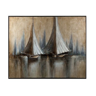 CKI Twin Sails Framed Oil Painting