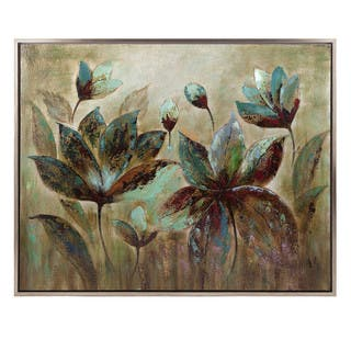 Chic Fragrant Bloom Framed Oil Painting