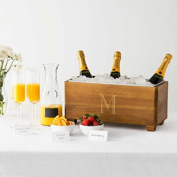 Personalized Wooden Wine Trough. Opens flyout.