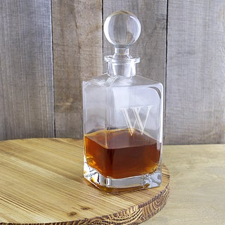 Personalized 32 oz. Square Whiskey Decanter