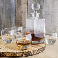 Personalized Square Decanter Set - 32 oz