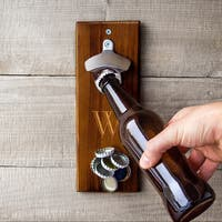Personalized Rustic Wall Mount Bottle Opener