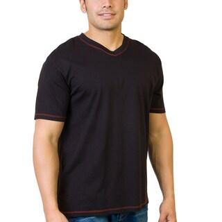 Steven Craig Apparel Men's Short Sleeve V-Neck T-shirt with Contrasting Trim