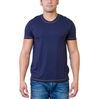 Steven Craig Apparel Men's Short Sleeve Crew Neck T-shirt with Contrasting Trim