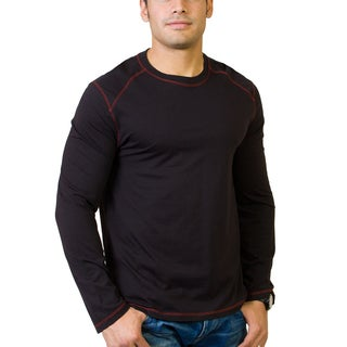 Steven Craig Apparel Men's Long Sleeve Crew Neck T-shirt with Contrasting Trim