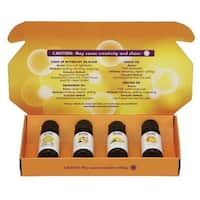 Now Foods 4 piece Put Some Pep in Your Step Uplifting Essential Oil Kit