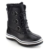 NATURE BREEZE FROST-04 Women Lace-up Short Winter Snow Ankle Booties